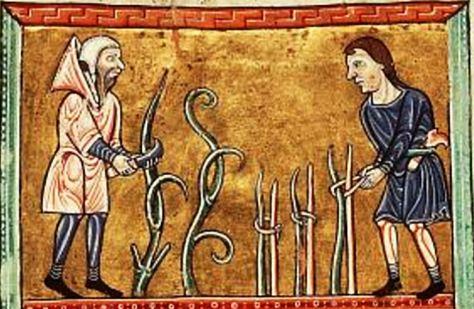 Two peasants c. 1180