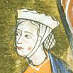 Noble woman in a barbette with a chin band and crespine, c. 1285