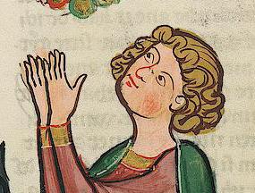 Man with chin length hair, c. 1300 - 1340