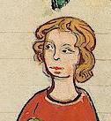 Man with chin length hair