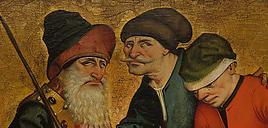 Three men with soft hats. Two wearing barretinas, 1465