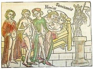 medieval noble woman in underpants 1474