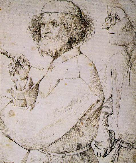 Painter in work garb, 1565