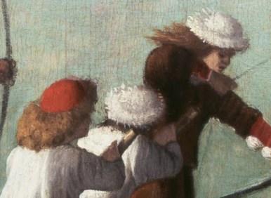 Italian men in fussy hats. c. 1490 - 1495