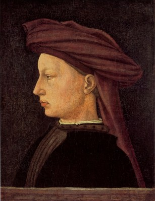 Man wearing a chaperon drapped as a turban, circa 1425