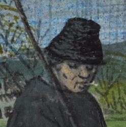 Man with a bell shaped hat, c. 1485-1490