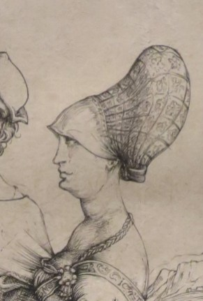 This hair style is one that I have seen a few times in 1500's. 1496-1497