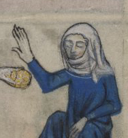 Veils and gorgets, Yates Thompson 13 c. 1325-1350