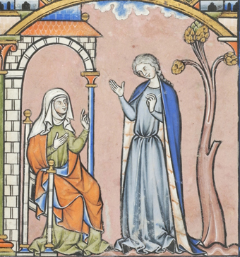 France, Paris, ca. 1244-1254 MS M.638 fol. 18r