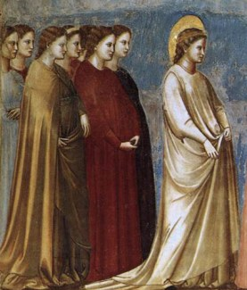 The lady in the front is wearing a cyclas and matching cote with narrow forarms, 1305