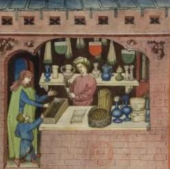 Raisins (fol. 54), Tacuinum Sanitatis (BNF Latin 9333), 15th century.