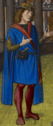 Detail of a miniature of Pygmalion and the statue, Harley MS 4425, f. 177v