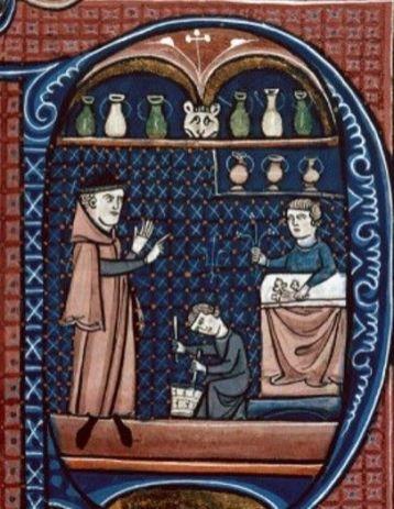 From Deuxième moitié XIIIe : Canon de la médecine, Avicenne, 1250-1300, Paris (Besançon, B.m., ms. 0457, f. 365, 457)