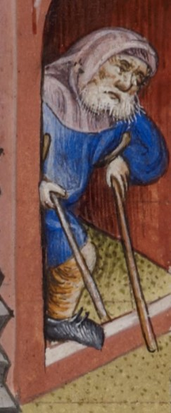 Begger. c. 1436-1443, From Psalter and Hours, Dominican use (the 'Prayerbook of Alphonso V of Aragon')