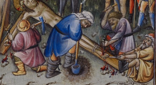 Crucifiction, c. 1436-1443, Psalter and Hours, Dominican use (the 'Prayerbook of Alphonso V of Aragon')