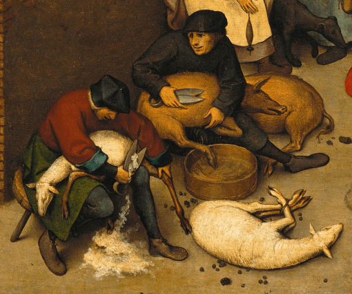 """Netherlandish Proverbs"" by Pieter Bruegel the Elder, 1559"