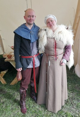 Kirstine and Michael in their beautiful gear.