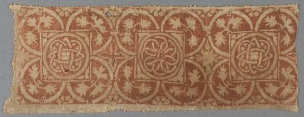 Block printed linen, 1400-30 Germany