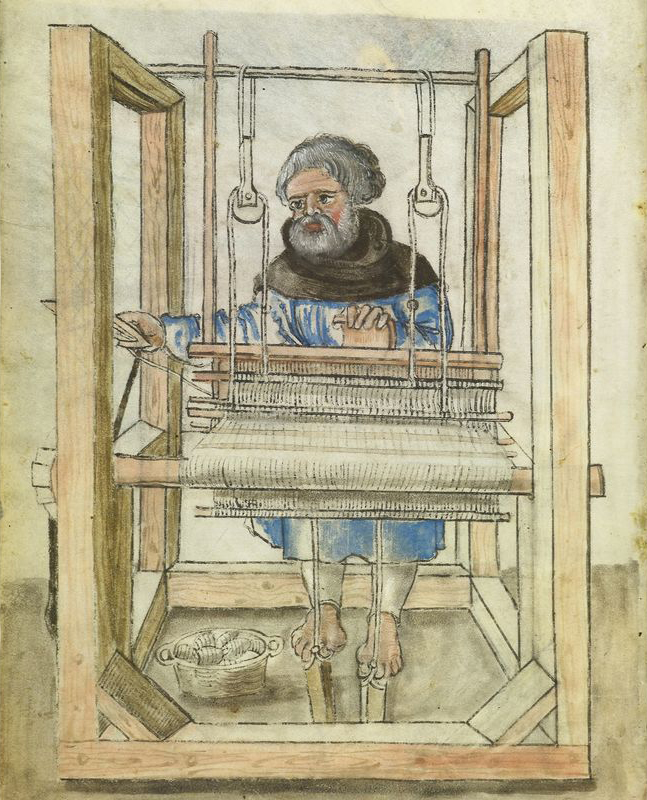 Man weaving, c. 1524