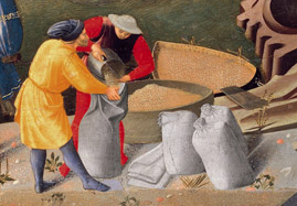 Worker in yellow tunic, c. 1437