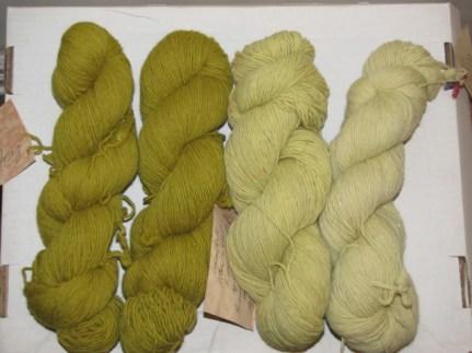Logwood weld dyed yarn