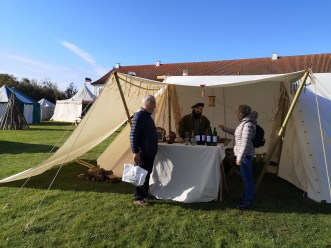 Our tent visited by marked guests