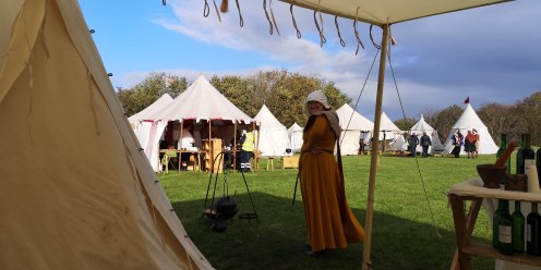 Me in my yellow medieval dress