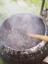 The medieval soup cooking