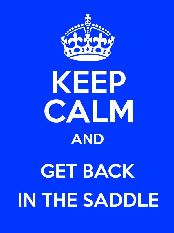 Image result for get back in the saddle