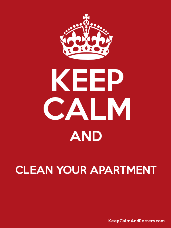 Keep Calm And Clean Your Apartment Posters