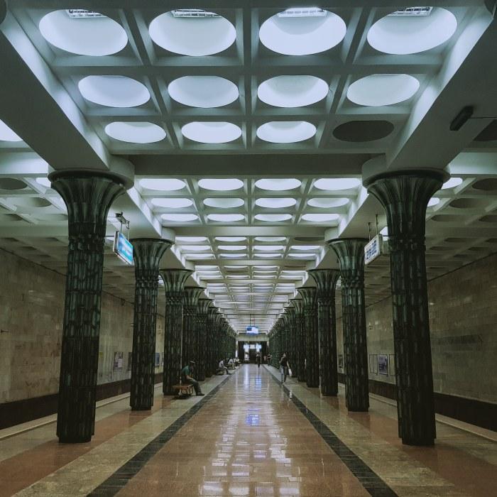 Gafur Gulom metro station, Tashkent Photo by Freda Hughes