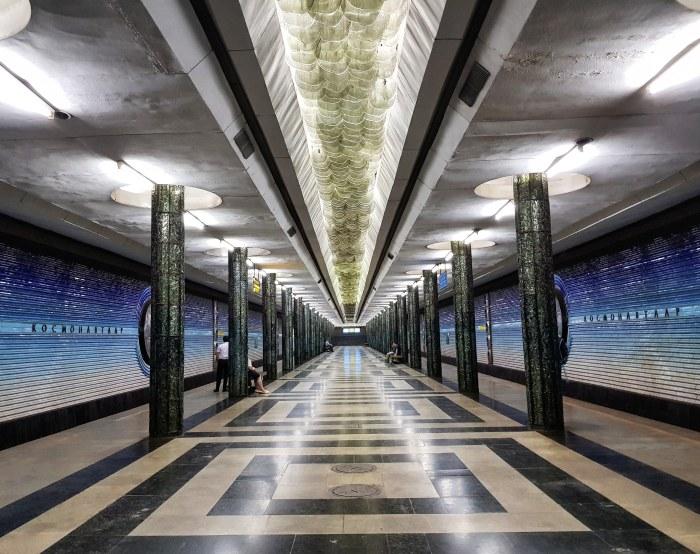 Kosmonavtlar metro station, Tashkent Photo by Freda Hughes