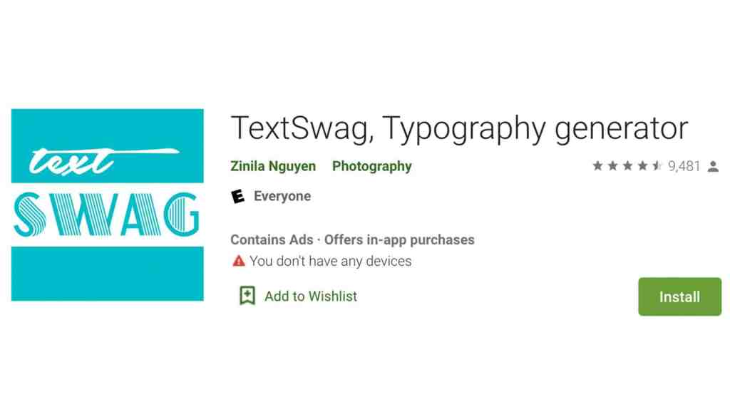 Text Swag App