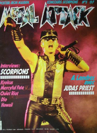Pin Metal Hammer Bon Jovi Iron Maiden Metallica