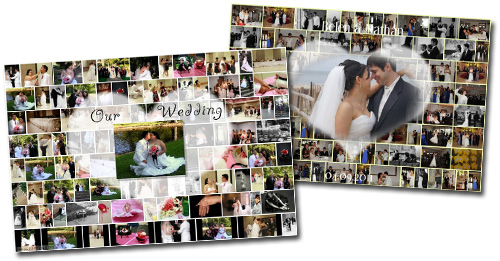Wedding Photo Collages - The Perfect Gift!