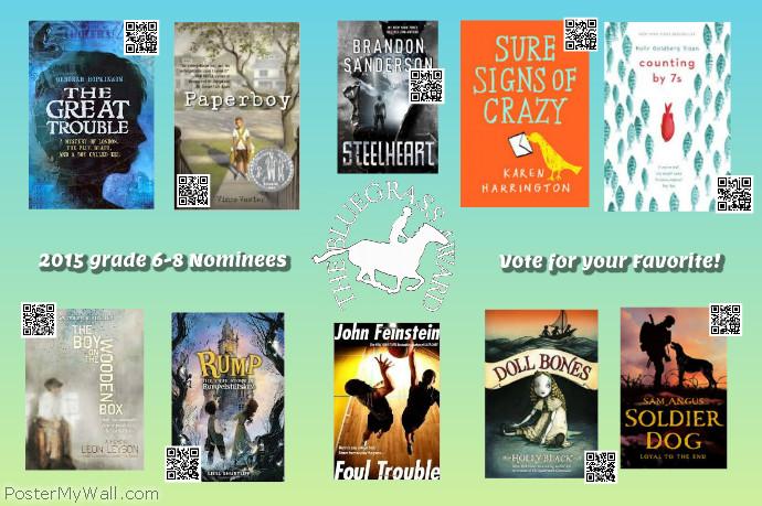 2015 KY Bluegrass Award Nominees grades 6-8