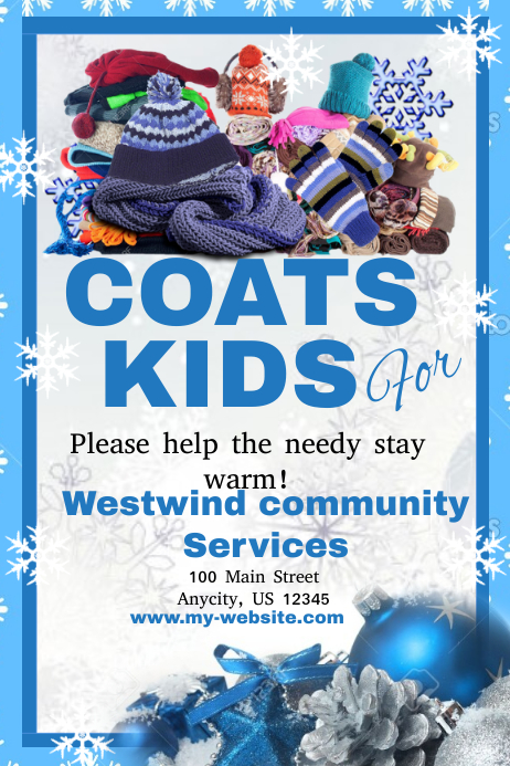 Coats For Kids Drive Template PosterMyWall