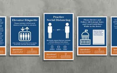 Plamondon Hospitality Partners COVID-19 Signage