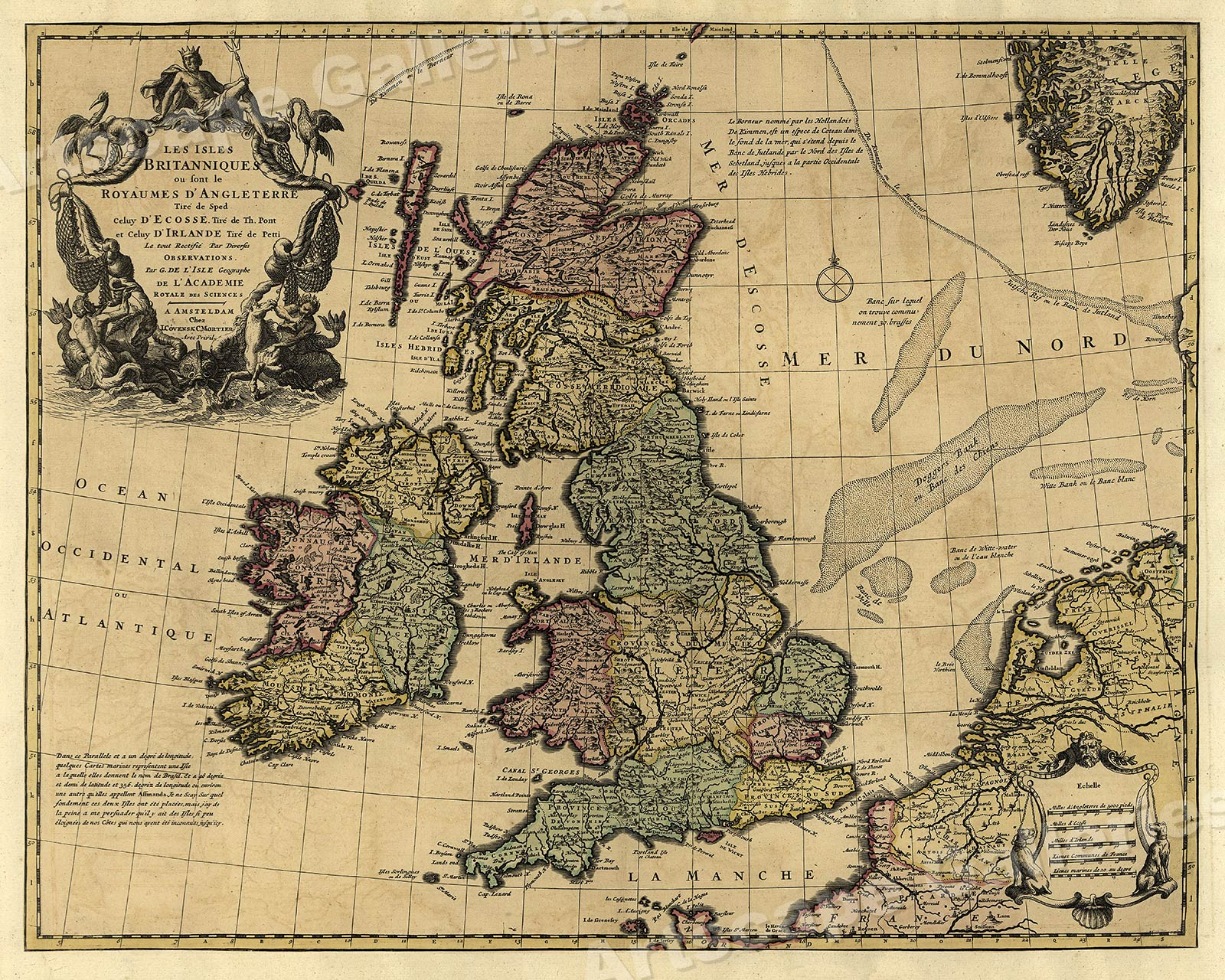 Historic Map  The Islands of Britain  1700s UK England Map   20x24     Store Categories