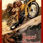 24x32 Harley Davidson Vintage Style 1920s Motorcycle Mountain Touring Poster Evoluaenergia Com Br