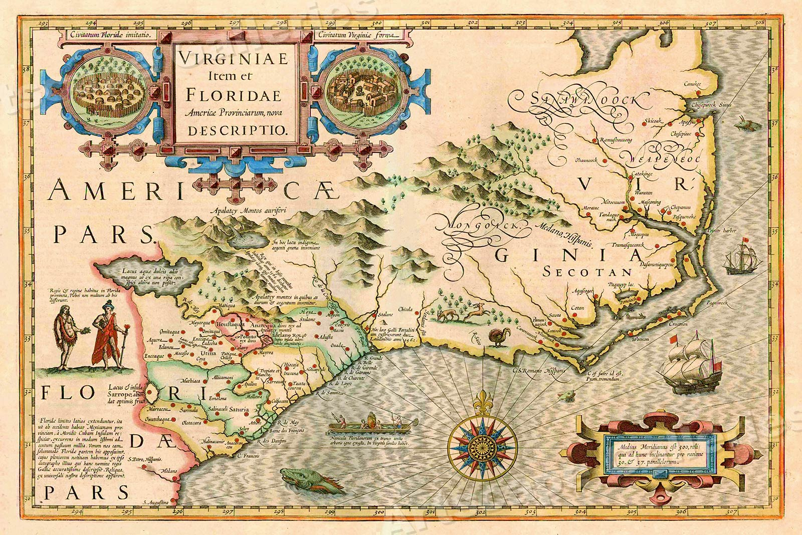 Map Of Virginia And East Coast Early Us Map