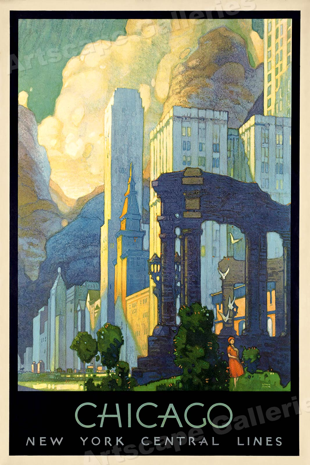 S Art Deco Chicago Vintage Style Ny Central Line