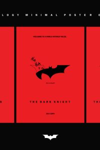 The dark knight trilogy minimal film poster collection