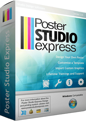 Use the Poster Studio software to create and design your own posters!