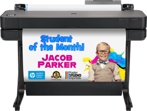 Make posters of graphs and information you need displayed! HP DesignJet