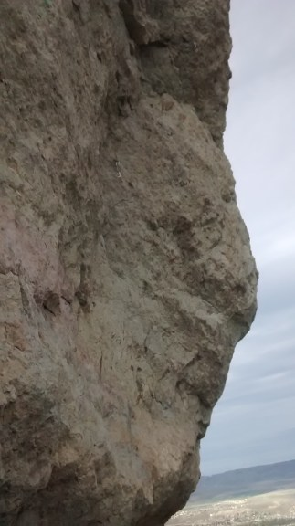 Evidence of rock climber people!