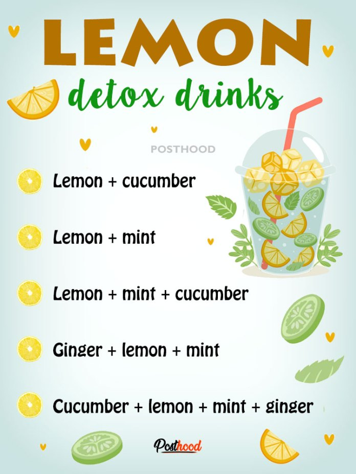 Help your body to detox naturally with these refreshing lemon detox drinks. Best drinks to cleanse your body internally out.