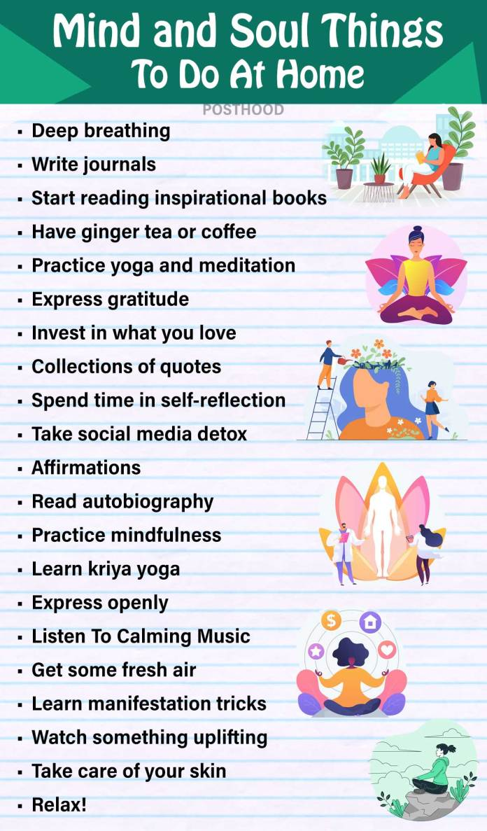 Explore a better version of yourself with these mind and soul things to do when stuck at home during quarantine. Best things to do at home for self improvement.