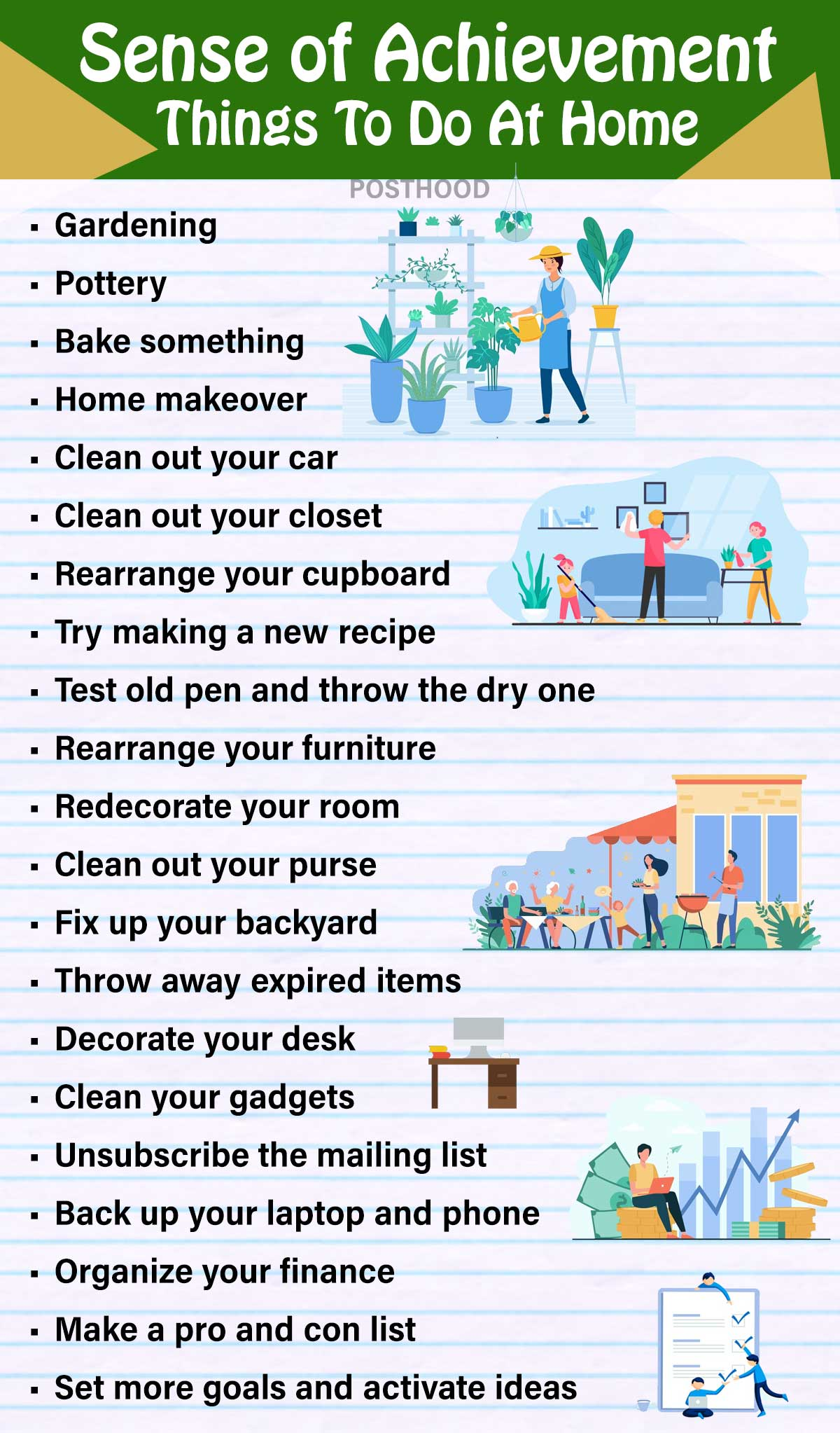 20 Creative and Fun Things To Do At Home When Bored – Posthood