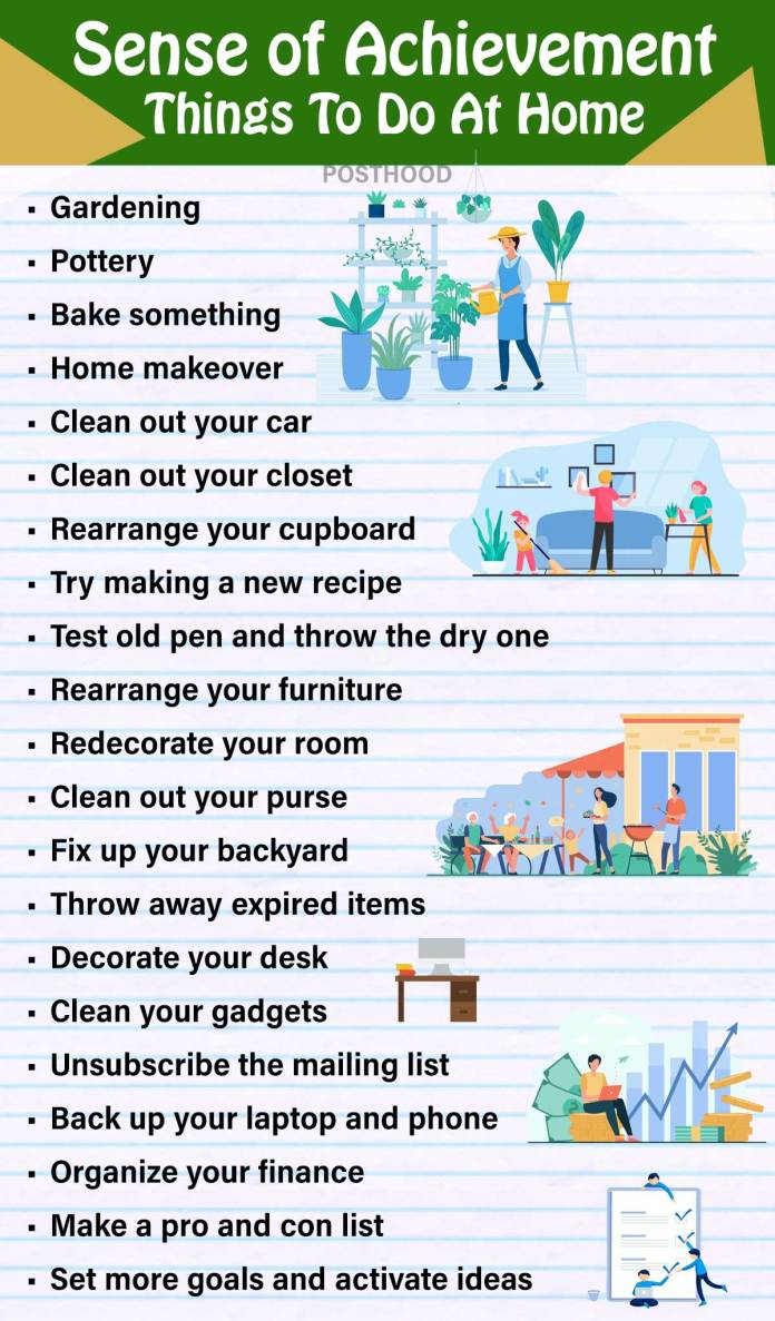 Feeling alone and bored at home. Give yourself a boost of dopamine with these sense of achievement things that you can do at home during quarantine. Fun and fulfilling things to do when bored.